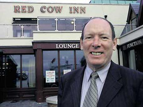 Tom Moran outside the Red Cow Inn in Dublin.