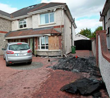 Paul O'Brien's car was burnt out outside his home in late 2011