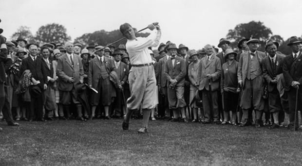 A memorable endorsement of Ireland's rich golfing legacy came from Bobby Jones (above) who wrote: 'It was for a long time my ambition to play the Portmarnock links, and I envy those who will have this privilege'