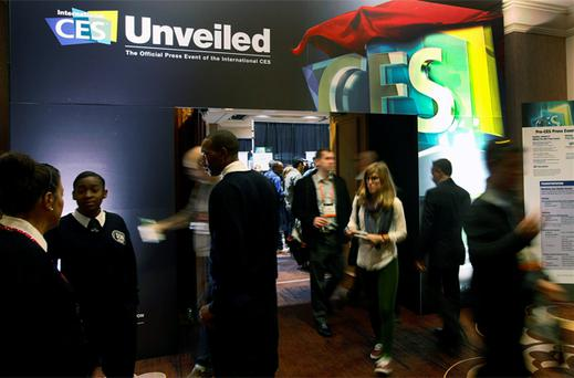 Showgoers attend the opening press event, 'CES Unveiled', at the Consumer Electronics Show (CES) in Las Vegas. Photo: Reuters