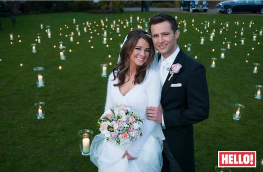 Harry Judd and his new bride Izzy Johnston lwho was unable to sleep on the eve of their wedding,