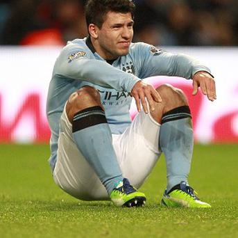 Sergio Aguero has a tear in his hamstring