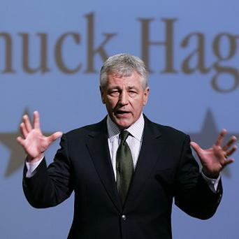 Chuck Hagel is the US President's choice as the next defence secretary (AP/Nati Harnik)