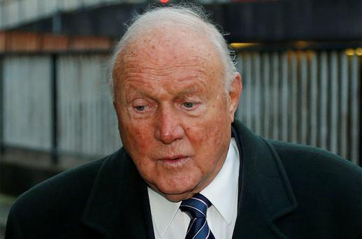 British broadcaster Stuart Hall arrives at Preston Magistrates Court in Preston, northern England. Photo: Reuters