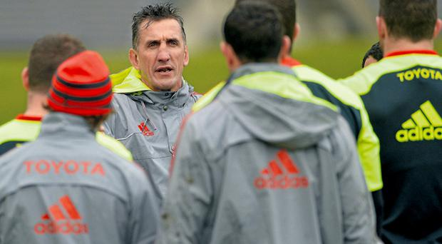 Munster head coach Rob Penney must get his message across to the players if the province are to advance into the knock-out stages of the Heineken Cup. Photo: Sportsfile