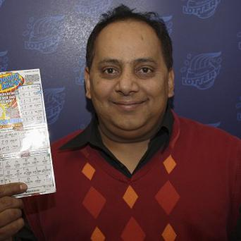 Urooj Khan was poisoned with cyanide a day after he collected nearly lottery winnings. (AP/Illinois Lottery)