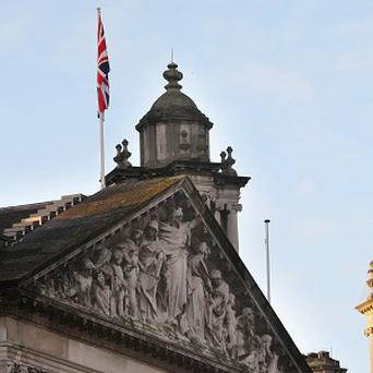 The Union Flag, which flew over Belfast City Hall last year to mark the Duchess of Cambridge's birthday
