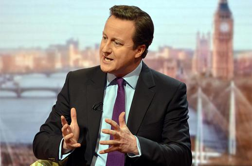British Prime Minister David Cameron. Photo: PA