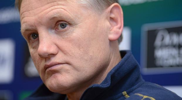 10 January 2013; Leinster head coach Joe Schmidt during a press conference ahead of their side's Heineken Cup, Pool 5, Round 5, game against Scarlets on Saturday. Leinster Rugby Press Conference, UCD, Belfield, Dublin. Picture credit: Brian Lawless / SPORTSFILE
