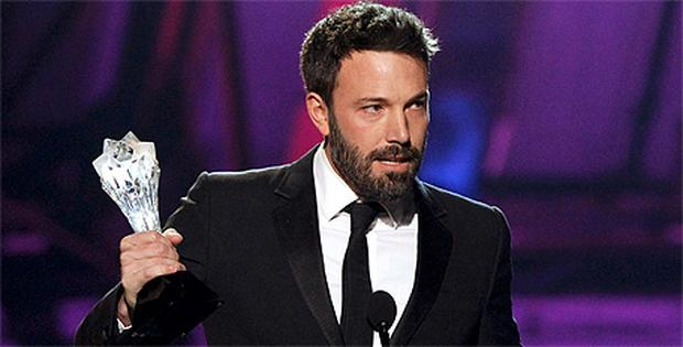 Director Ben Affleck accepts the 'Best Director' award for the movie 'Argo'