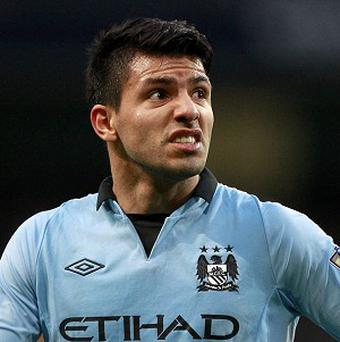Sergio Aguero could be out for several weeks with a hamstring injury