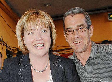 Former Fianna Fail politician Mary Coughlan with her late husband Dave Charlton