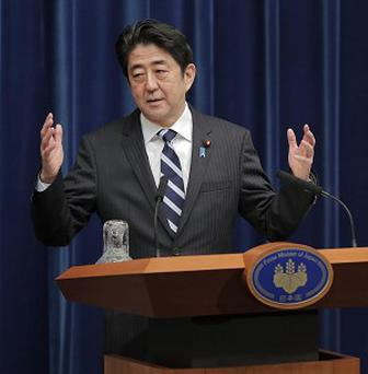 Japan's Shinzo Abe has criticised China over its handling of a territorial dispute between the two nations (AP)