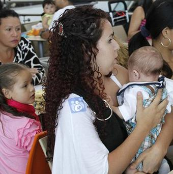 Mothers stage a breastfeeding protest in Costa Rica (AP)