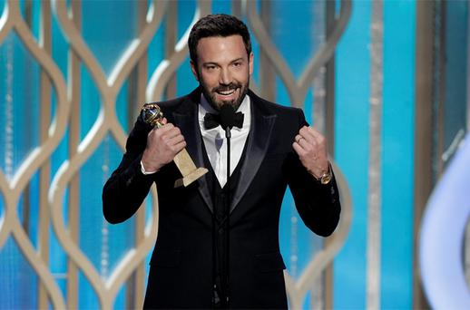 Ben Affleck accepts the award for Best Director - Motion Picture for 'Argo'. Photo: Reuters