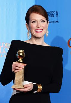 BEVERLY HILLS, CA - JANUARY 13: Actress Julianne Moore, winner of Best Actress in a Mini-Series or a Motion Picture Made for Television for