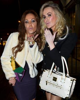 Jo Jordan and Lisa Murphy after the Dublin Wives wrap party in Dandelion, St Stephen's Green, 11 January.
