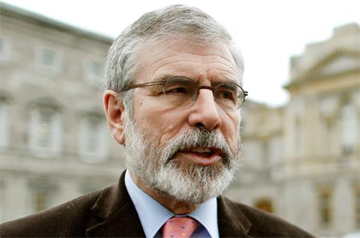 Sinn Fein president Gerry Adams. Photo: PA