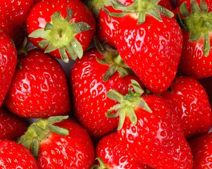 Scientists found that three handfuls of strawberries each week reduced the risk of heart attack