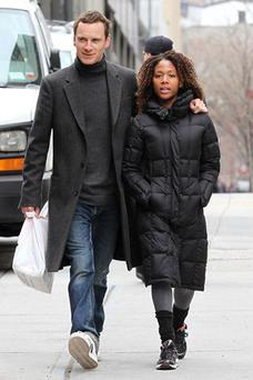 Nicole Beharie and Michael Fassbender met on the set of the movie Shame.