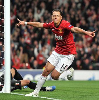 Manchester United's Javier Hernandez has scored 12 goals this season