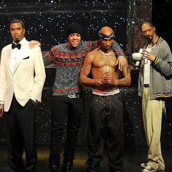 Chip gets a close up look at the figures of US rap stars at Madame Tussauds