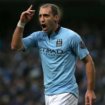 Pablo Zabaleta is hoping Manchester City can continue to put pressure on Manchester United