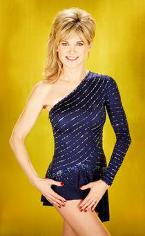 ITV undated handout photos of Dancing On Ice star Anthea Turner is recovering after hurting a rib during training for the ITV show. PRESS ASSOCIATION Photo. Issue date: Wednesday January 16, 2013. See PA story SHOWBIZ Turner. Photo credit should read: Nicky Johnston/ITV/PA Wire NOTE TO EDITORS: This handout photo may only be used in for editorial reporting purposes for the contemporaneous illustration of events, things or the people in the image or facts mentioned in the caption. Reuse of the picture may require further permission from the copyright holder.