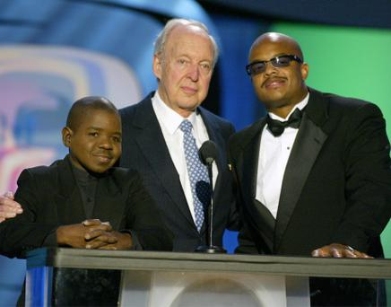 FILE - 16 JANUARY 2013: According to reports 'Diff'rent Strokes' actor Conrad Bain, 89, died on January 14, 2013 in Livermore, California. HOLLYWOOD - MARCH 2: (L to R) Actors Gary Coleman, Conrad Bain and Todd Bridges speak on stage during the TV Land Awards 2003 at the Hollywood Palladium on March 2, 2003 in Hollywood, California. (Photo by Kevin Winter/Getty Images)