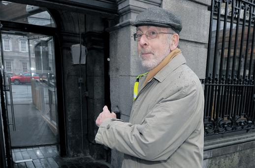 Central Bank gvernor Patrick Honohan arrives at Leinster House to appear before the Joint Committee on Finance, Public Expenditure and Reform. Photo: Damien Eagers