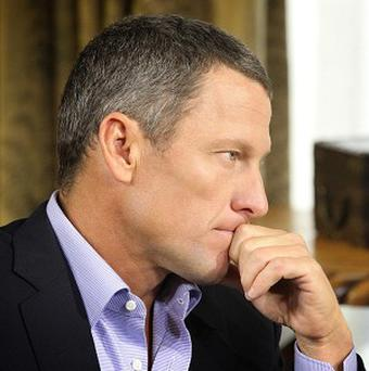 Lance Armstrong during taping for the show Oprah and Lance Armstrong: The Worldwide Exclusive in Austin, Texas (AP/Courtesy of Harpo Studios, Inc, George Burns)