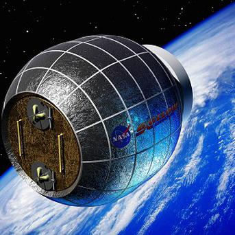 An artist's rendering shows a Bigelow inflatable space station (AP/Bigelow Aerospace)