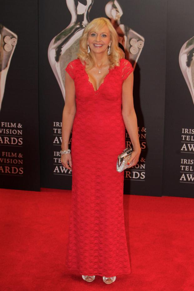 11/2/12 Miriam O'Callaghan at the IFTA Awards at the Convention Centre in Dublin. Picture:Arthur Carron