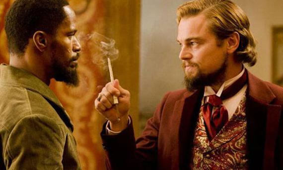 Jamie Foxx and Leo DiCaprio star in Django Unchained.