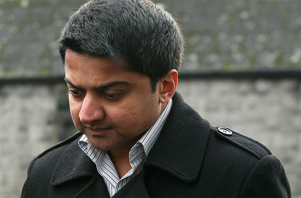 Praveen Halappanavar arrives at Galway Coroners Court for the inquest into the death of his wife Savita Halappanavar. Photo: PA
