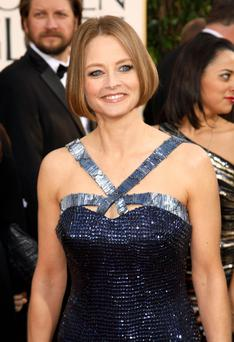 Actress Jodie Foster at the 70th annual Golden Globe Awards in Beverly Hills, California January 13, 2013. REUTERS/Jason Redmond (UNITED STATES - Tags: Entertainment) (GOLDENGLOBES-ARRIVALS)