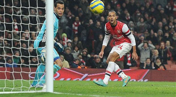 Theo Walcott has agreed a new deal with Arsenal. Photo: Getty Images