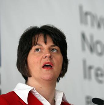 Enterprise Minister Arlene Foster welcomed law firm Axiom's job creation announcement
