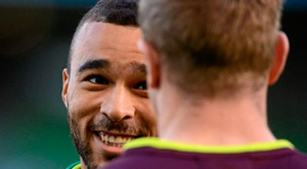 Simon Zebo's fine form may leave Keith Earls (right) as Ireland's reserve utility back for the Six Nations campaign