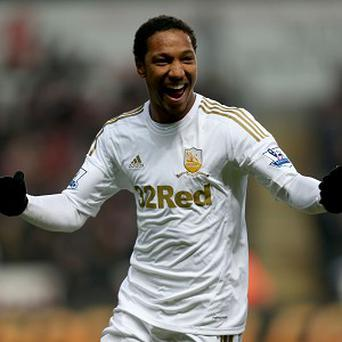 Jonathan de Guzman scored twice for Swansea