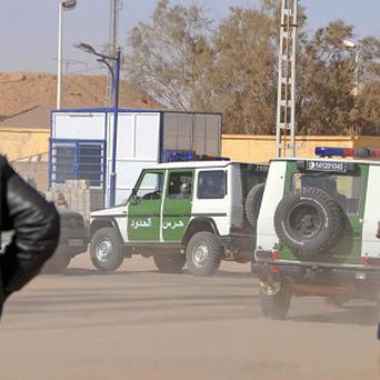 Border guard intervention brigade vehicles in a street of Ain Amenas, near the gas plant where hostages were kidnapped by Islamic militants (AP)
