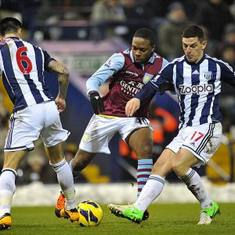 Charles N'Zogbia, centre, was a constant threat against West Brom