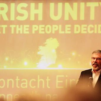 Sinn Fein president Gerry Adams called on the British and Irish governments to set a date for a border poll on Northern Ireland's future