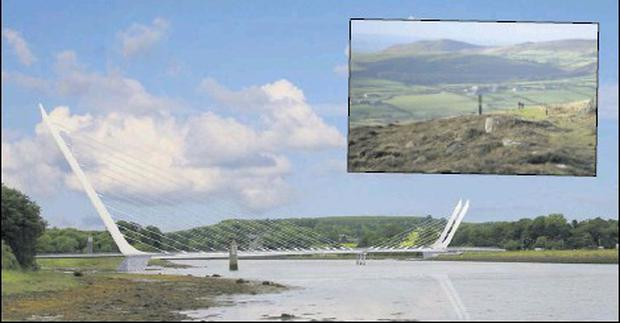 The building of the Narrow Water Bridge will help to unlock the tourism potential of County Louth and open up areas such as the Cooley Mountains (inset) to visitors.