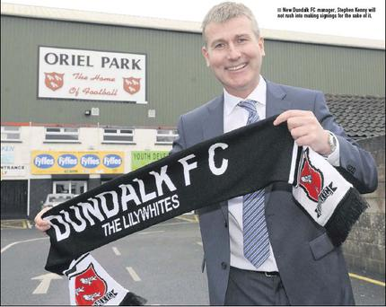 New Dundalk FC manager, Stephen Kenny will not rush into making signings for the sake of it.