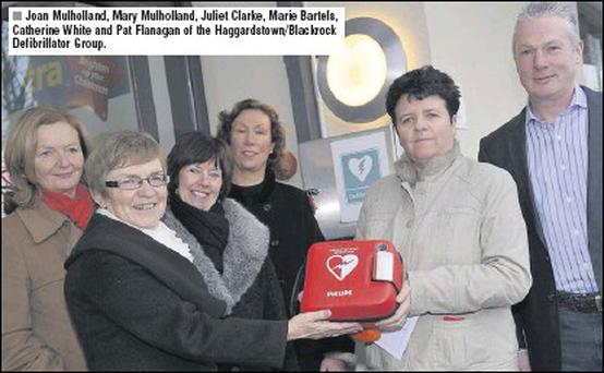 Joan Mulholland, Mary Mulholland, Juliet Clarke, Marie Bartels, Catherine White and Pat Flanagan of the Haggardstown/Blackrock Defibrillator Group.