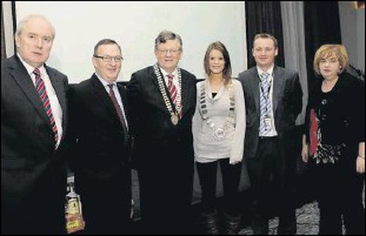 Michael McCabe, Louth County Council, Enda Jordan, Ernst and Young, pPaddy Malone, President, Dundalk Chamber of Commerece, Jennifer Green, Chairperson, Dundalk Town Council, Chris McKinnon, PayPal, Joan Martin, County Manager, Louth County Council.