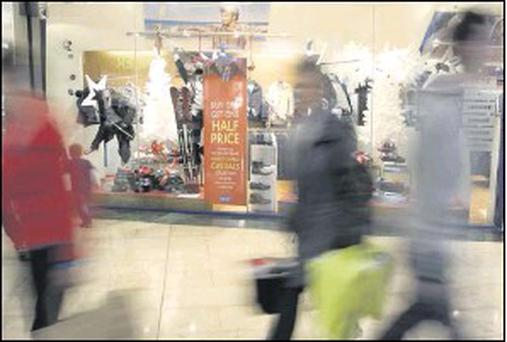 Shoppers were out in force for the January sales.