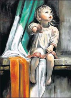 'Upon Small Shoulders' by Neil Condron sold for €19,500 at the auction in the RDS.