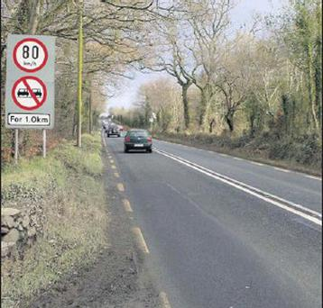 A section of the N11 near Barndarrig which is due to be upgraded.